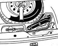 1.26 Запасное колесо, домкрат и инструмент