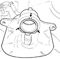 11.4 Суппорт переднего тормоза Opel Omega