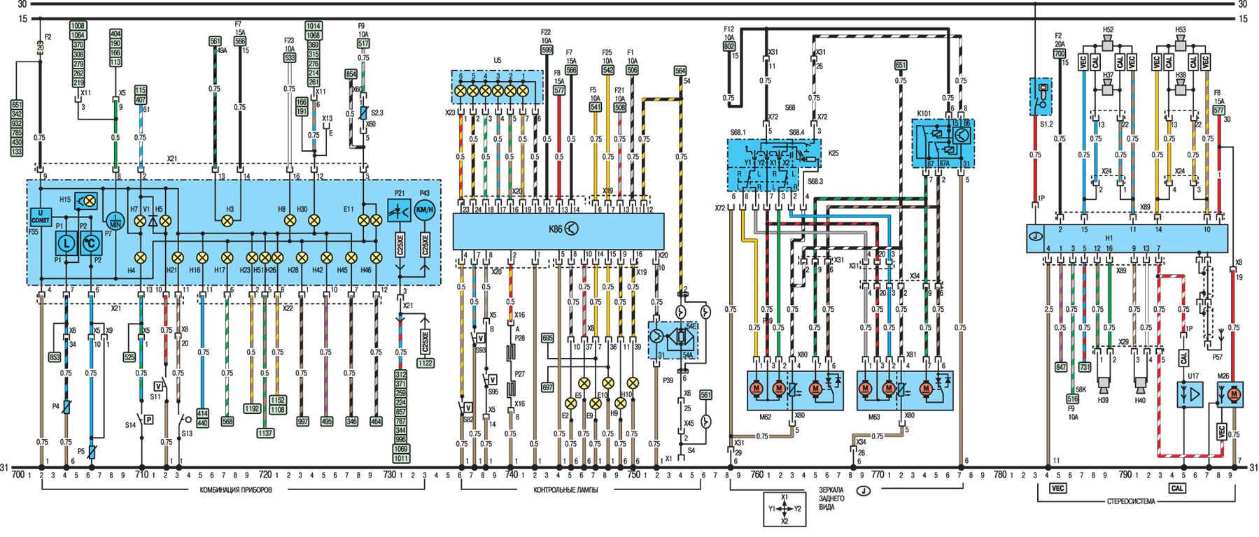 Схема двигателя опель вектра б 2 литра