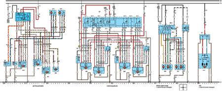 19.64.2 Электрическая схема моделей с 1989 года Opel Vectra A