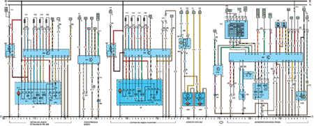 19.64.4 Электрическая схема моделей с 1991 года Opel Vectra A