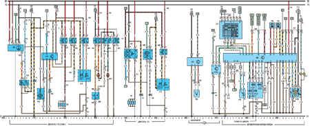 19.64.6 Электрическая схема моделей с 1992 года Opel Vectra A