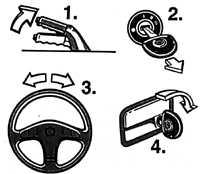 1.9 Контрольные лампы комбинации приборов Opel Vectra A