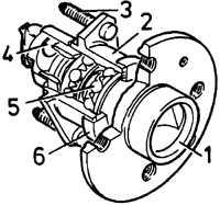 17.13 Замена подшипника ступицы заднего колеса (модели с 1993 года)