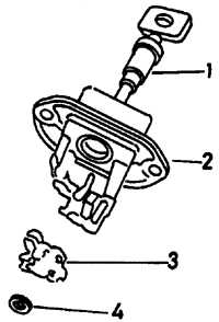 18.12 Цилиндр замка крышки багажника (модели Седан)