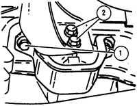 3.10 Замена опор двигателя и коробки передач Opel Vectra A