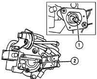 7.23 Датчик положения дроссельной заслонки на моделях с автоматической коробкой передач