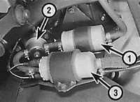 8.9 Топливный фильтр на моделях с топливным насосом, расположенным вне топливного бака Opel Vectra A