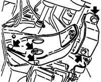 13.10 Снятие и установка коробки передач Opel Vectra A