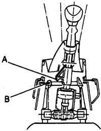 13.3 Регулировка тяги механизма выбора передач Opel Vectra A