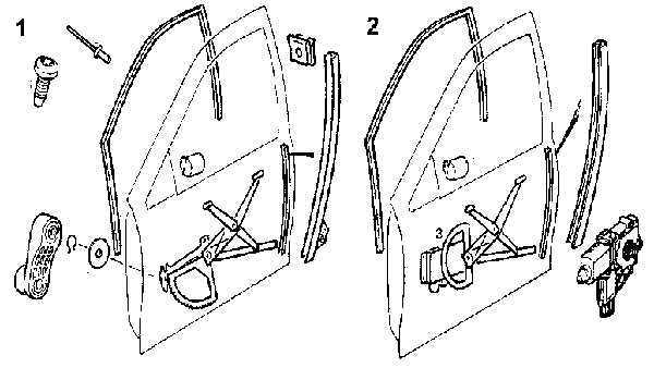 Стеклоподъемник двери