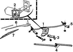 14.15 Двигатель стеклоочистителя и тяги