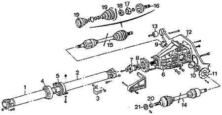 9.6 Привод на передние колеса с силовым агрегатом 4х4