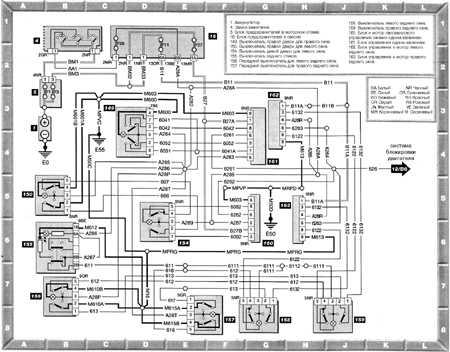 схема электростеклоподъемников peugeot 406
