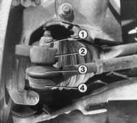 10.8 Проверка пылезащитных колпачков и зазора наконечников поперечной   рулевой тяги