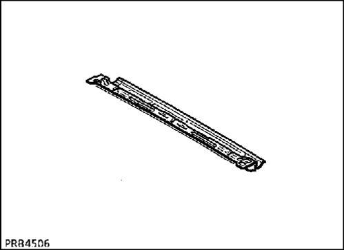 4.  Задняя поперечная балка крыши