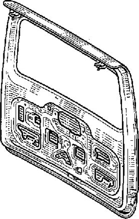 3.  Подъемная дверь задка