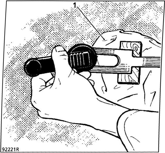 1.  Рукоятка стеклоподъемника передней двери