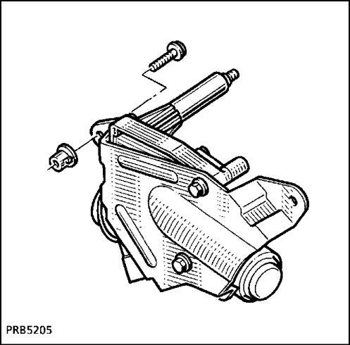 2.  Двигатель заднего стеклоочистителя