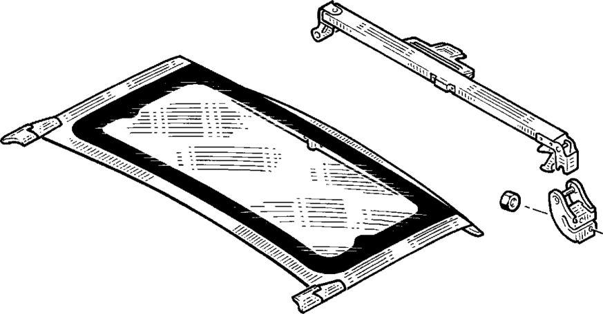 6.  Поперечина открывающейся секции крыши