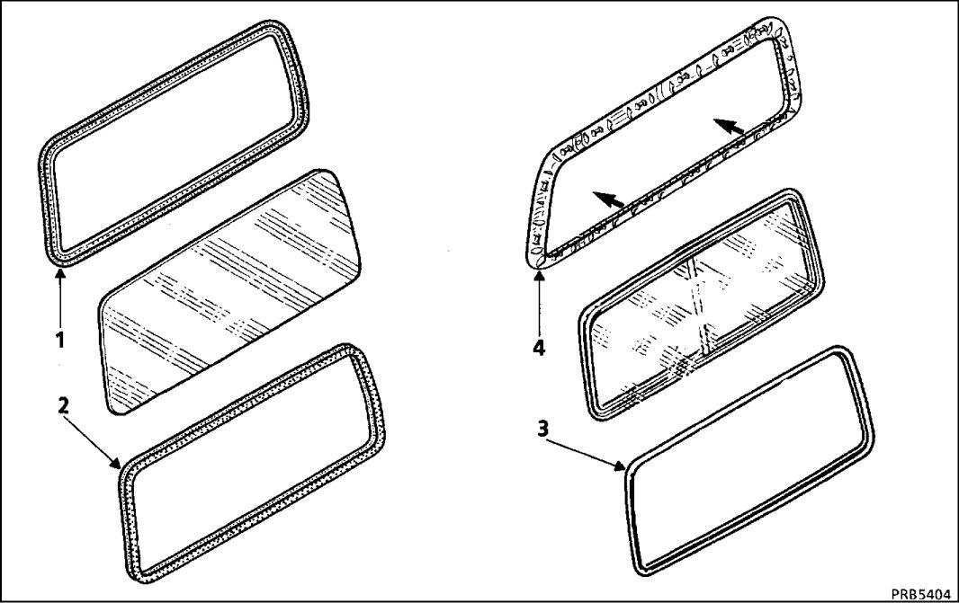 4.  Боковое неподвижное или сдвижное стекло