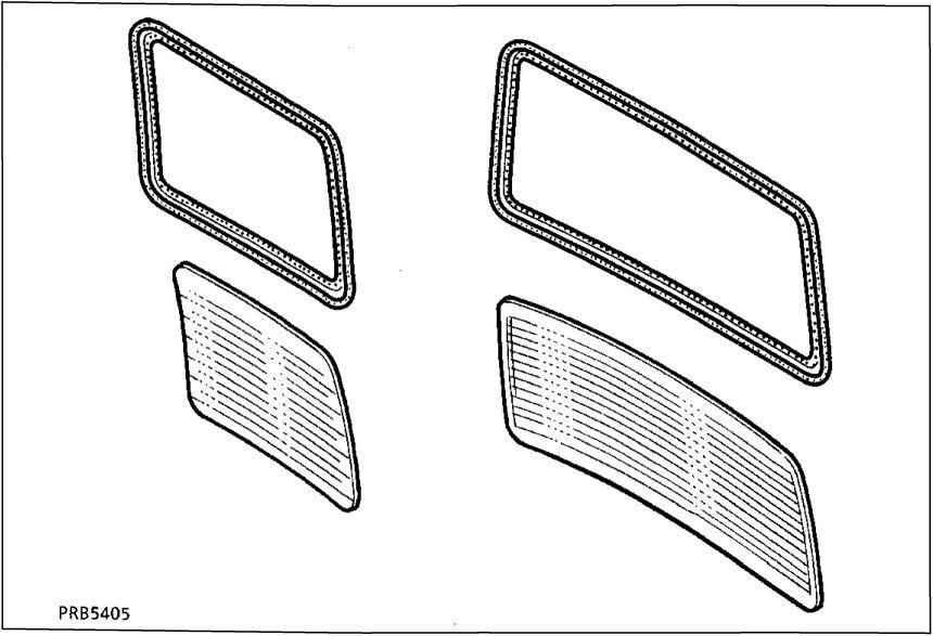 5.  Стекло задней двери и стекло двери задка