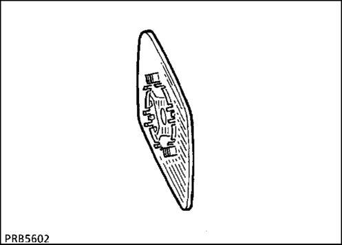 2.  Стекло зеркала заднего вида