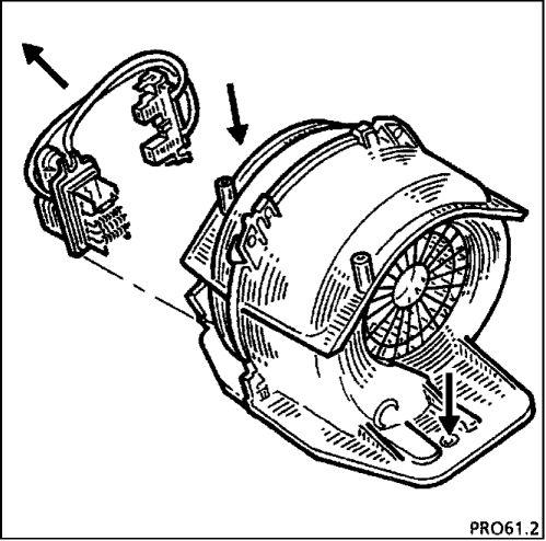 3.  Электровентилятор отопителя