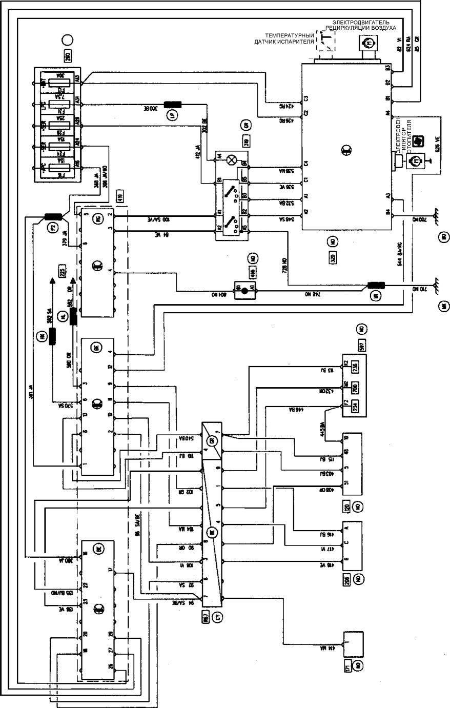 2.  Электрическая схема Renault Kangoo