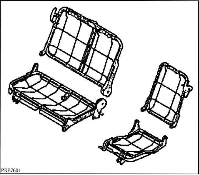 2.  Многоместное сиденье в сборе
