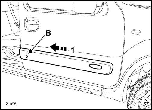 2.  Боковые защитные накладки Renault Kangoo