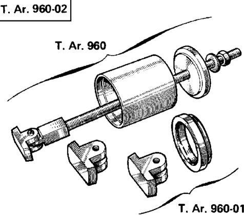 9.  Кольца подшипников, задний мост с трубчатой балкой