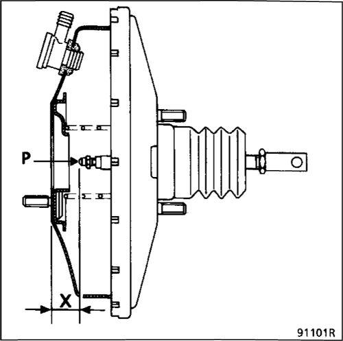 1.  Главный тормозной цилиндр