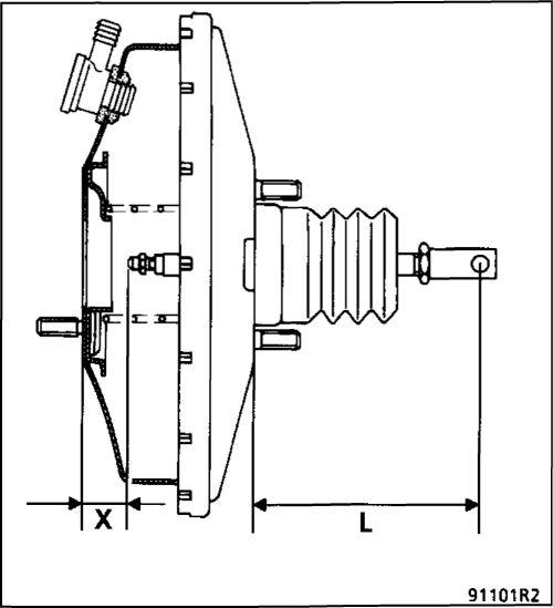 2.  Вакуумный усилитель тормозов Renault Kangoo
