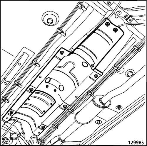 5.  Рычаг привода стояночного тормоза