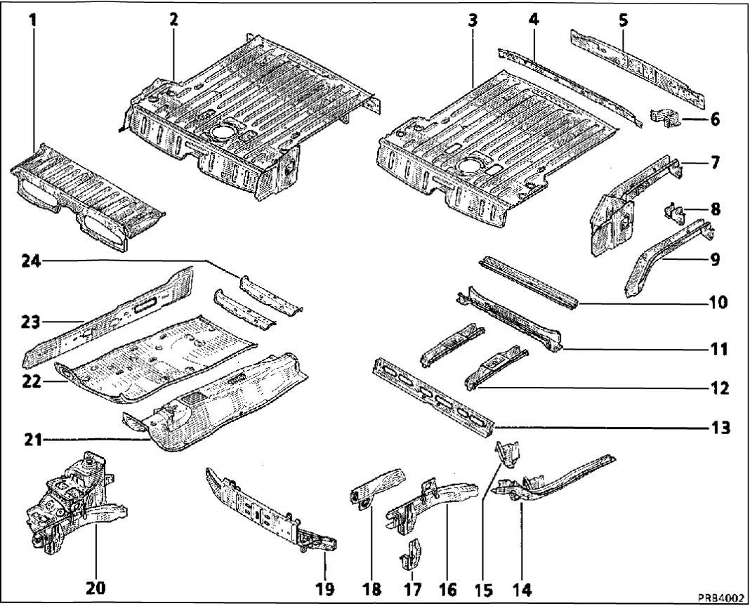 8.  Описание частей (вид с разбиением по деталям)