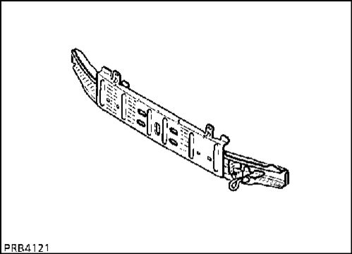 1.  Нижняя краяняя передняя поперечина кузова