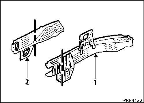 2.  Передняя часть переднего лонжерона