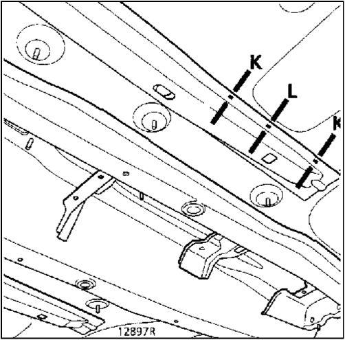 6.  Задняя часть переднего лонжерона Renault Kangoo