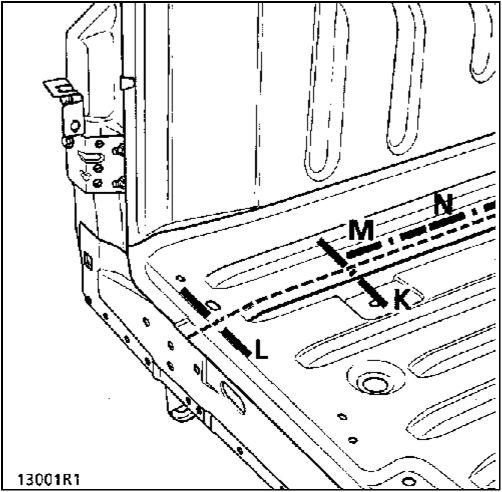 12.  Задняя секция задней части пола Renault Kangoo
