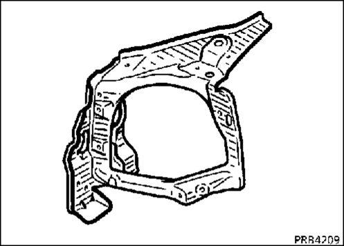 2.  Панель крепления блок-фары