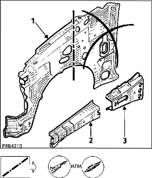 3.  Передний брызговик