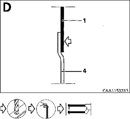 3.  Внутренняя панель передней стойки кузова - передний брызговик Renault Kangoo