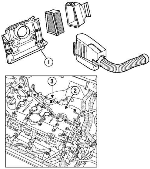 Система вентиляции картера маслоотделитель