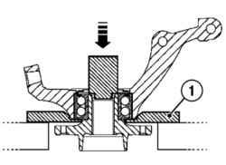 4.7 Снятие и установка подшипника ступицы переднего колеса