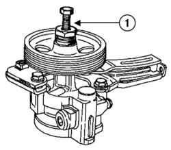 5.6 Замена шкива насоса гидроусилителя рулевого управления