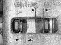 2.9 Проверка колодок передних тормозных механизмов и дисков
