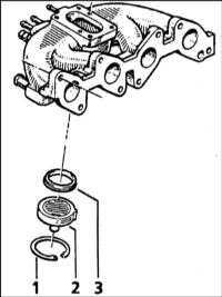 5.1.15 Снятие и установка впускного трубопровода и выпускного коллектора