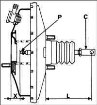10.11 Проверка, снятие и установка блока вакуумного усилителя Renault Megane