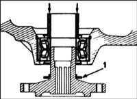 11.2 Проверка и замена подшипников ступицы переднего колеса